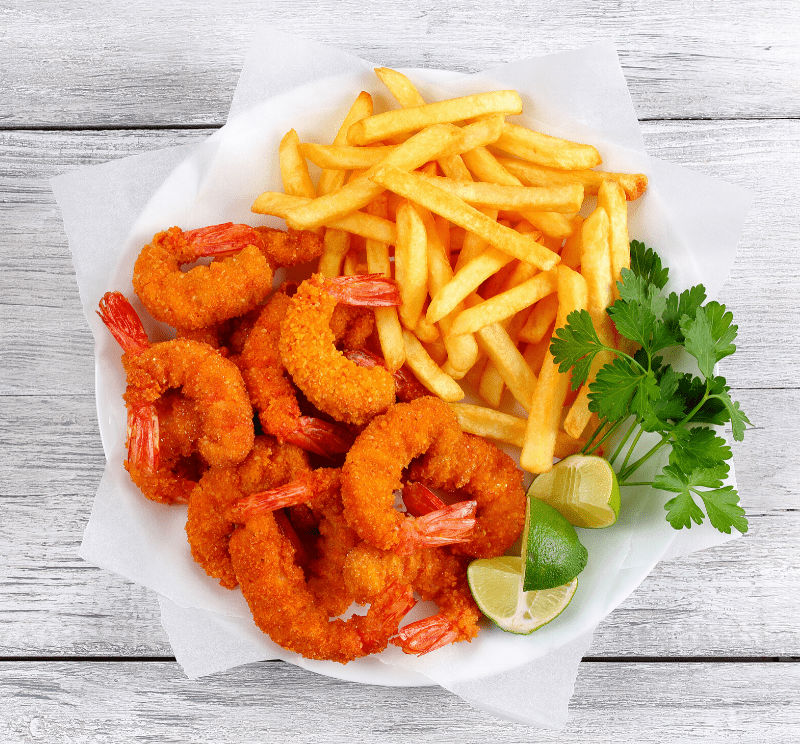 Shrimp with Fries
